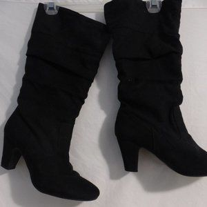ALIVE black boots with 2 inch heels 16.5 inches